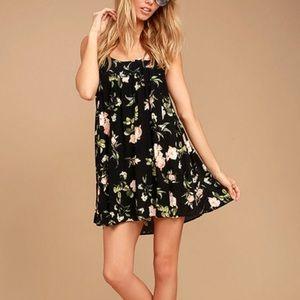 Lulu's Have My Back Floral Print Babydoll Dress.